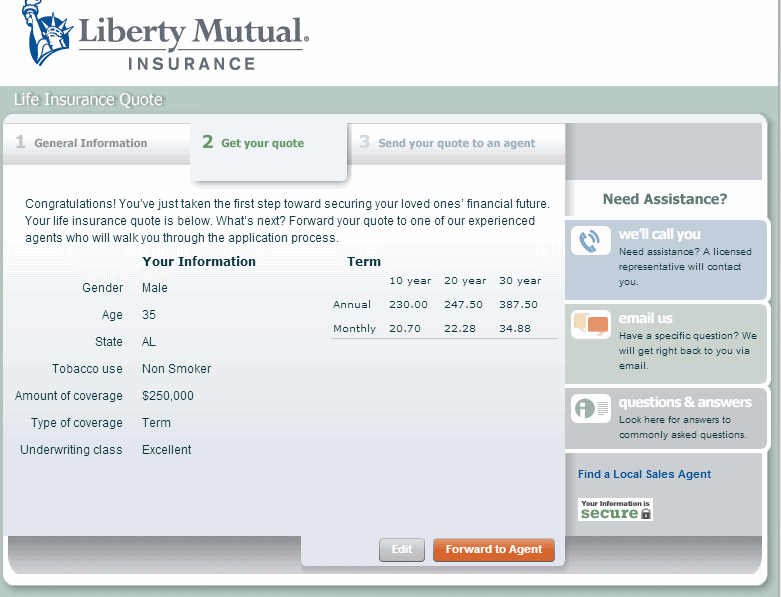Liberty Mutual Life Insurance Quote 15