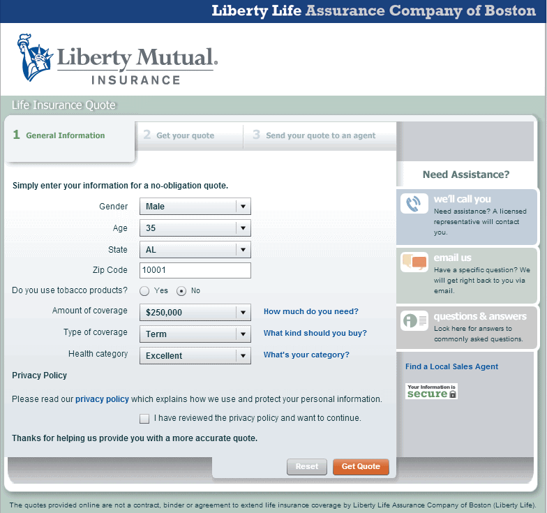 Liberty Mutual Life Insurance Quotes 20