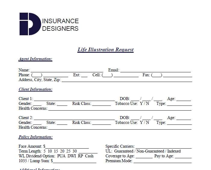 Life Insurance Quote Form 11