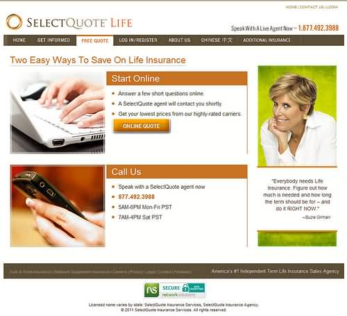 Life Insurance Select Quote 20