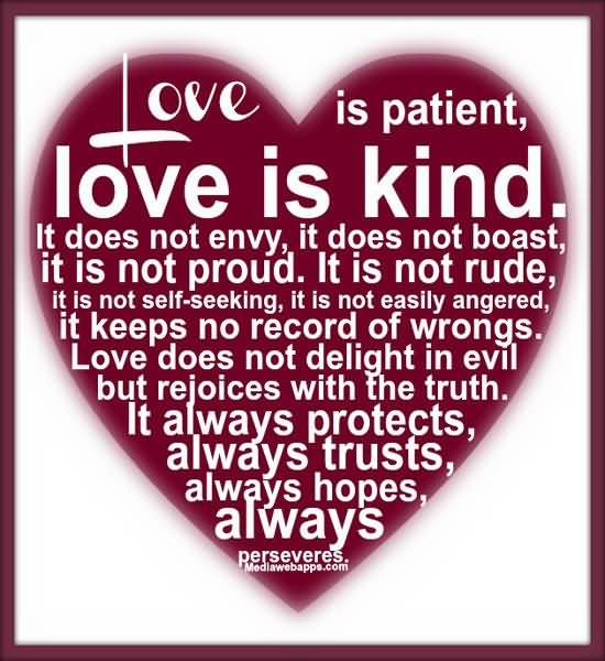 Love Is Patient Love Is Kind Quote 03
