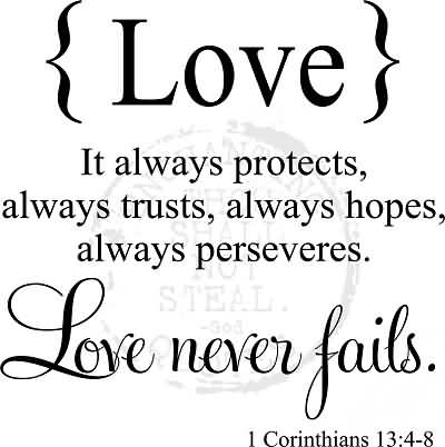 Love Never Fails Quote 11