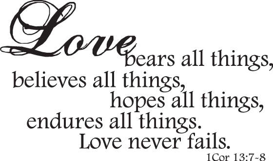 Love Never Fails Quote 14