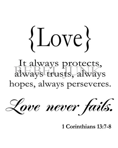 Love Never Fails Quote 16