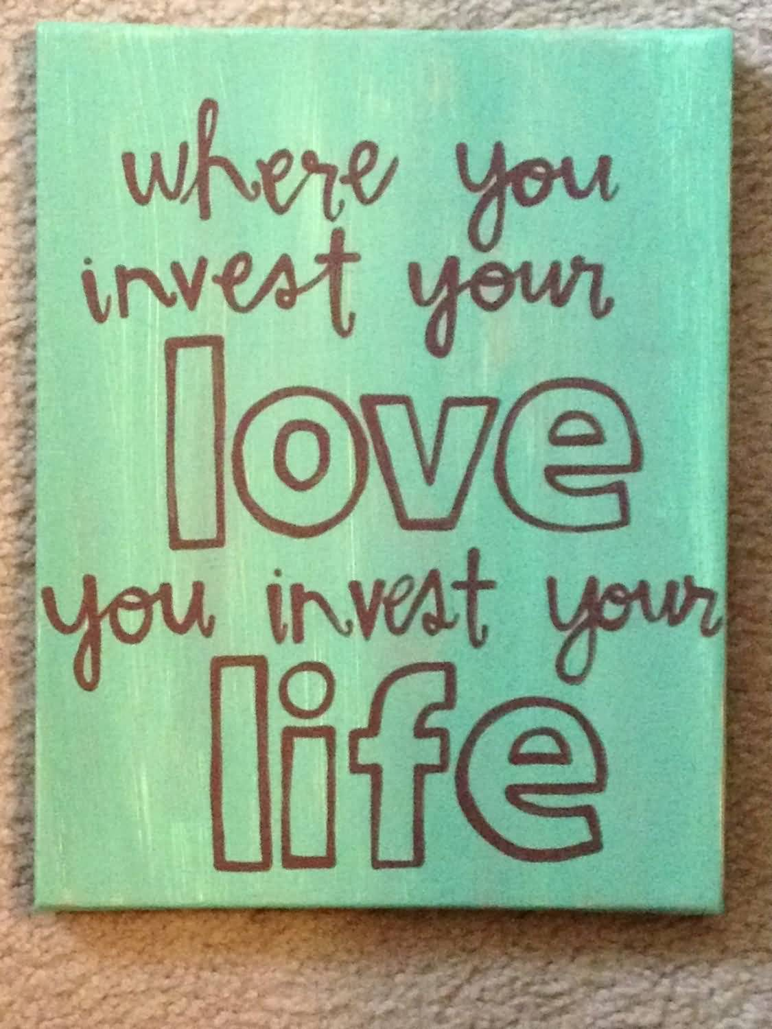 Love Quotes On Canvas 20