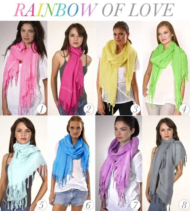 Love Quotes Scarf 10