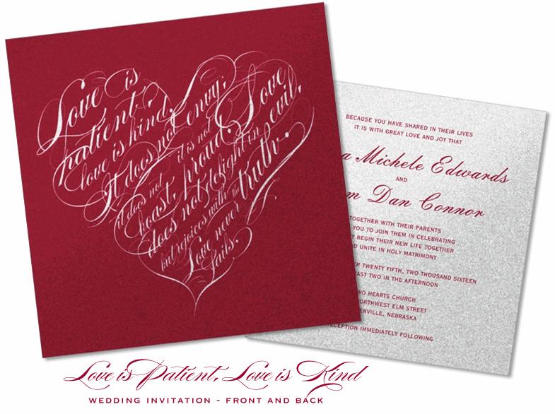 Love Quotes Wedding Invitation 03