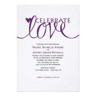 Love Quotes Wedding Invitation 06