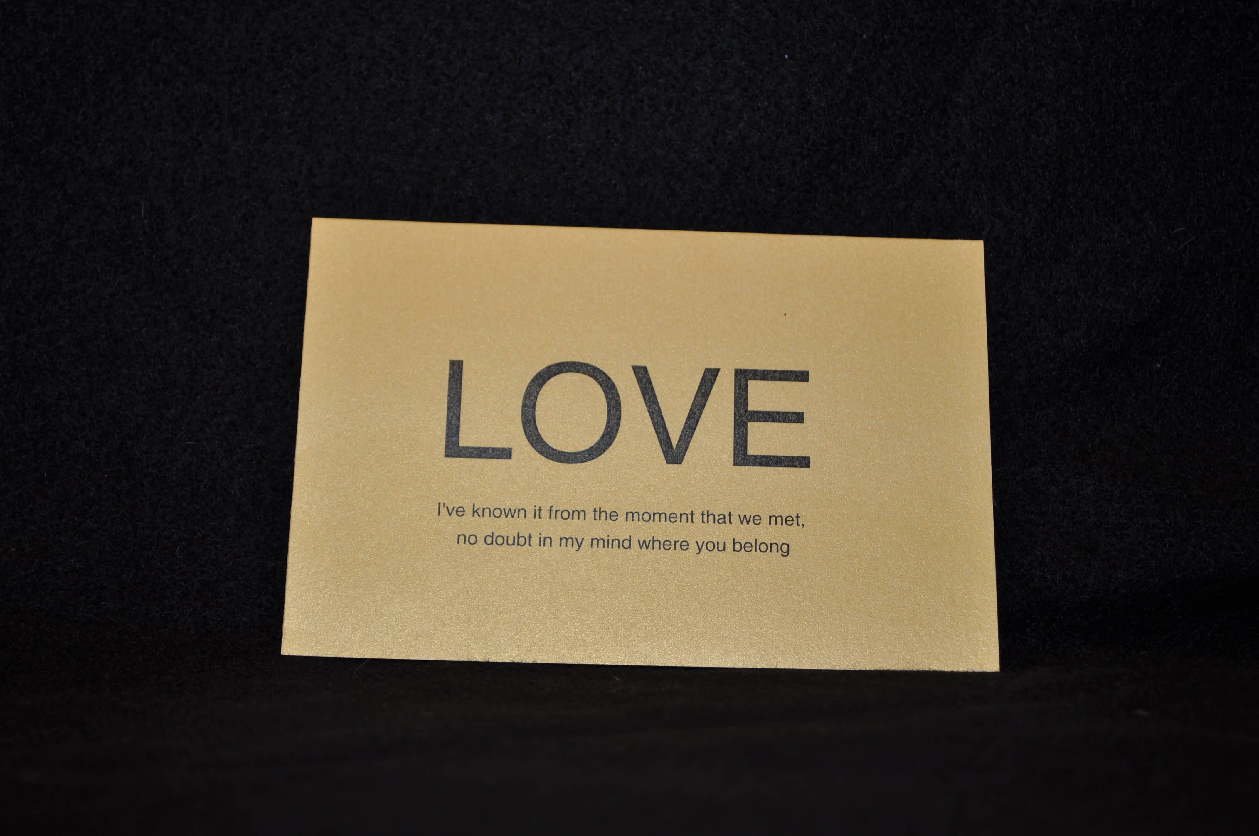 Love Quotes Wedding Invitation 12
