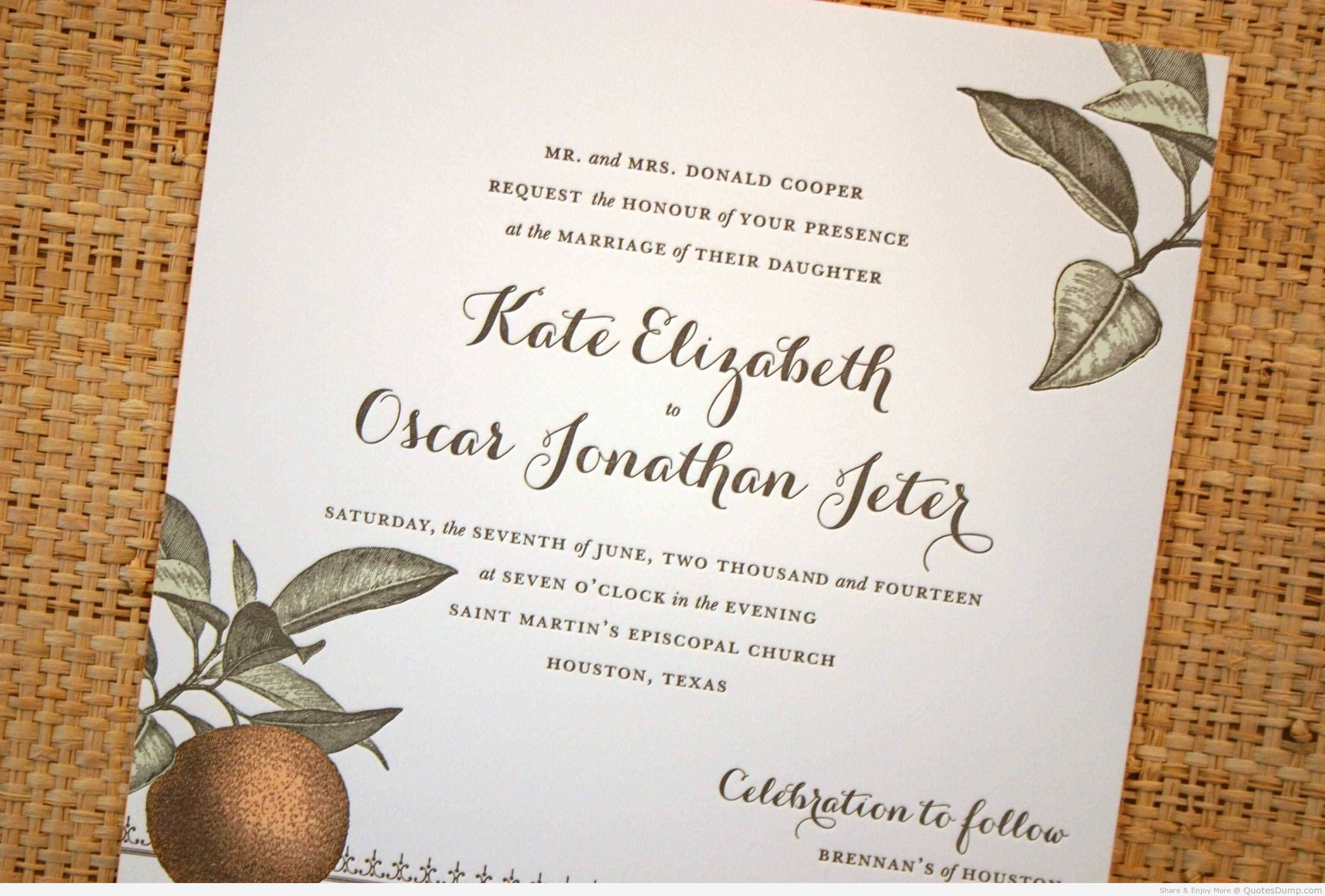 Love Quotes Wedding Invitation 14