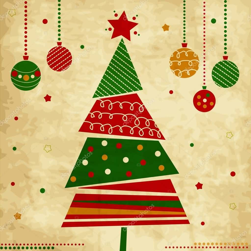 Merry Christmas Cards Vector Image Picture Photo Wallpaper 02
