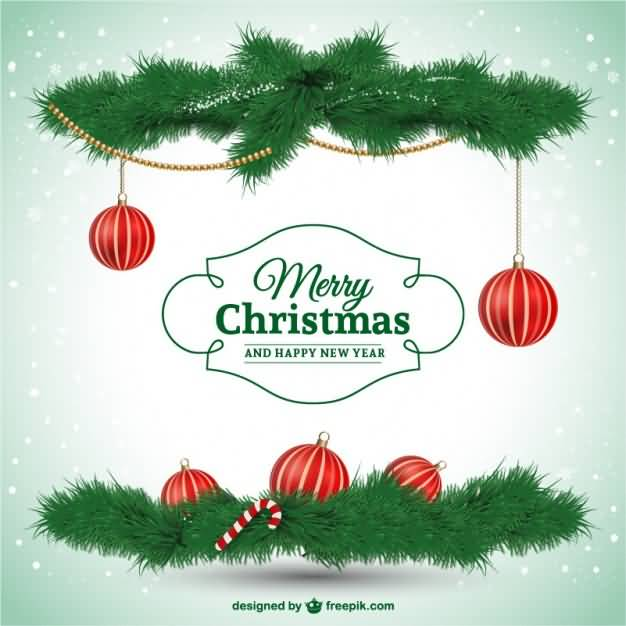 Merry Christmas Cards Vector Image Picture Photo Wallpaper 12