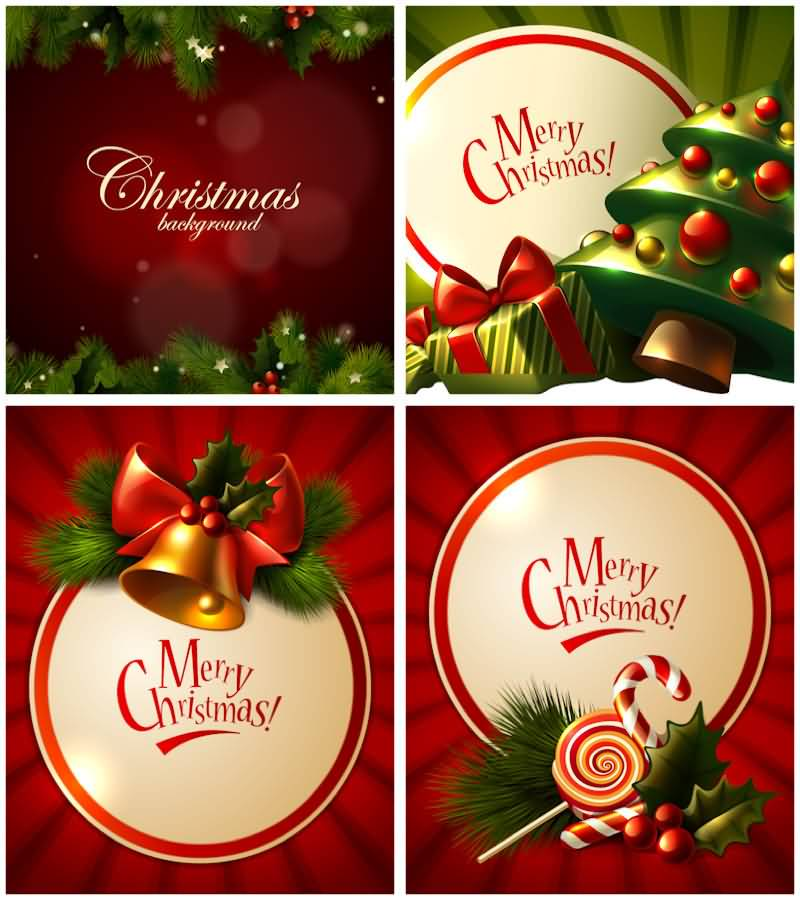 Merry Christmas Cards Vector Image Picture Photo Wallpaper 13