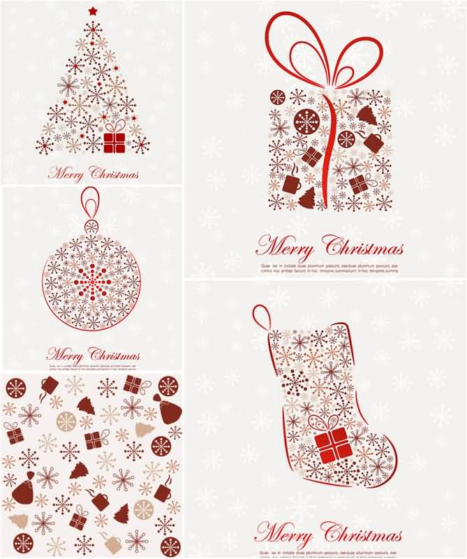 Merry Christmas Cards Vector Image Picture Photo Wallpaper 19