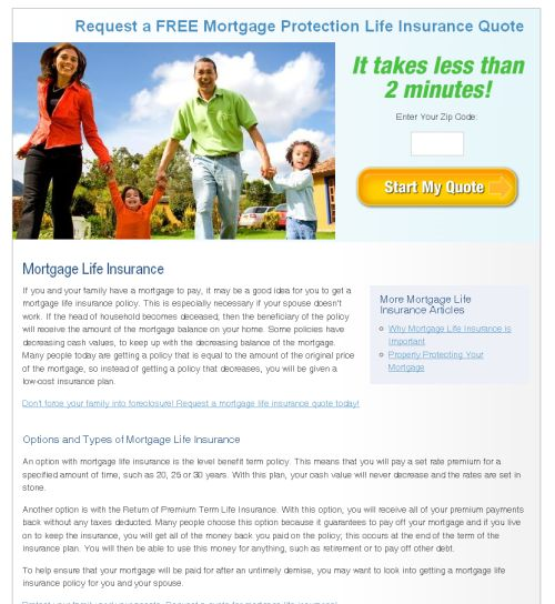 Mortgage Life Insurance Quotes 03