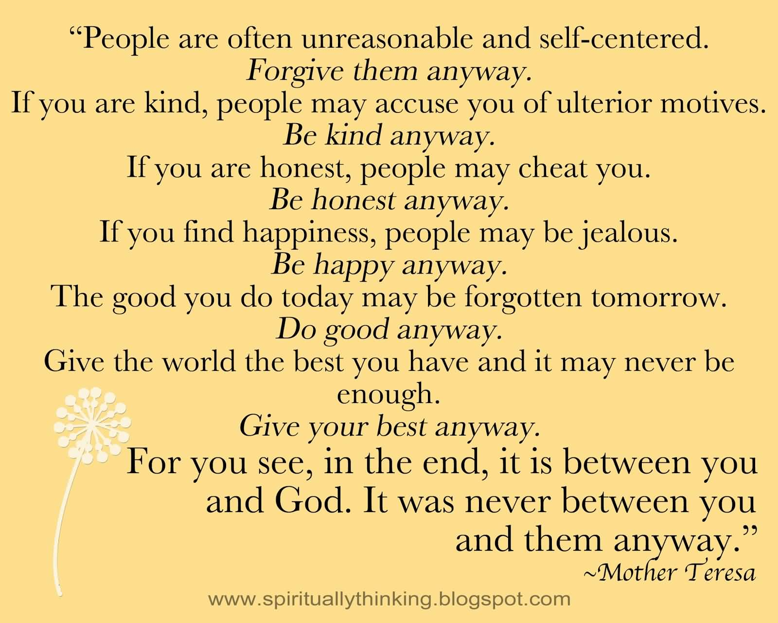 Mother Teresa Quotes Love Anyway 11