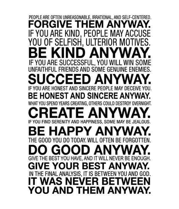Mother Teresa Quotes Love Anyway 12