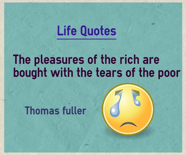 Poor Life Quotes 12