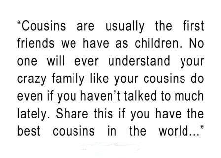 Quotes About Cousin Friendship 18