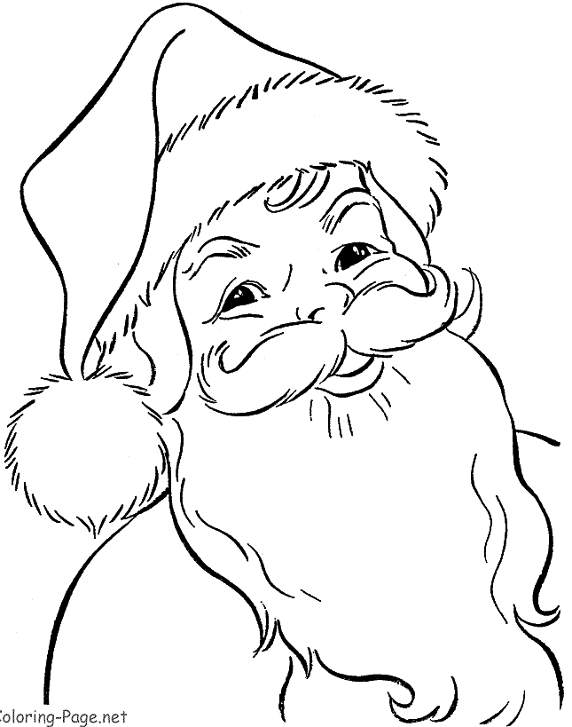 Santa Claus Coloring Pages Image Picture Photo Wallpaper 03