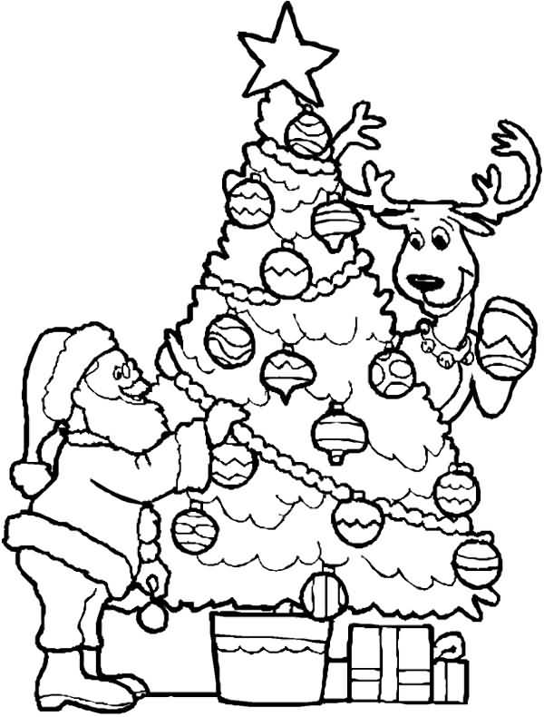 Santa Claus Coloring Pages Image Picture Photo Wallpaper 04