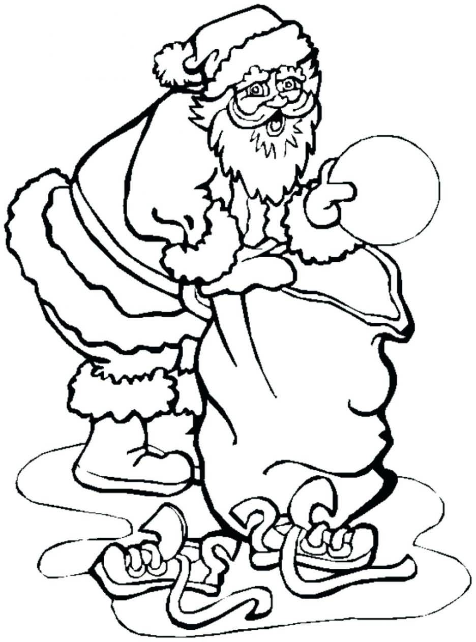 Santa Claus Coloring Pages Image Picture Photo Wallpaper 05