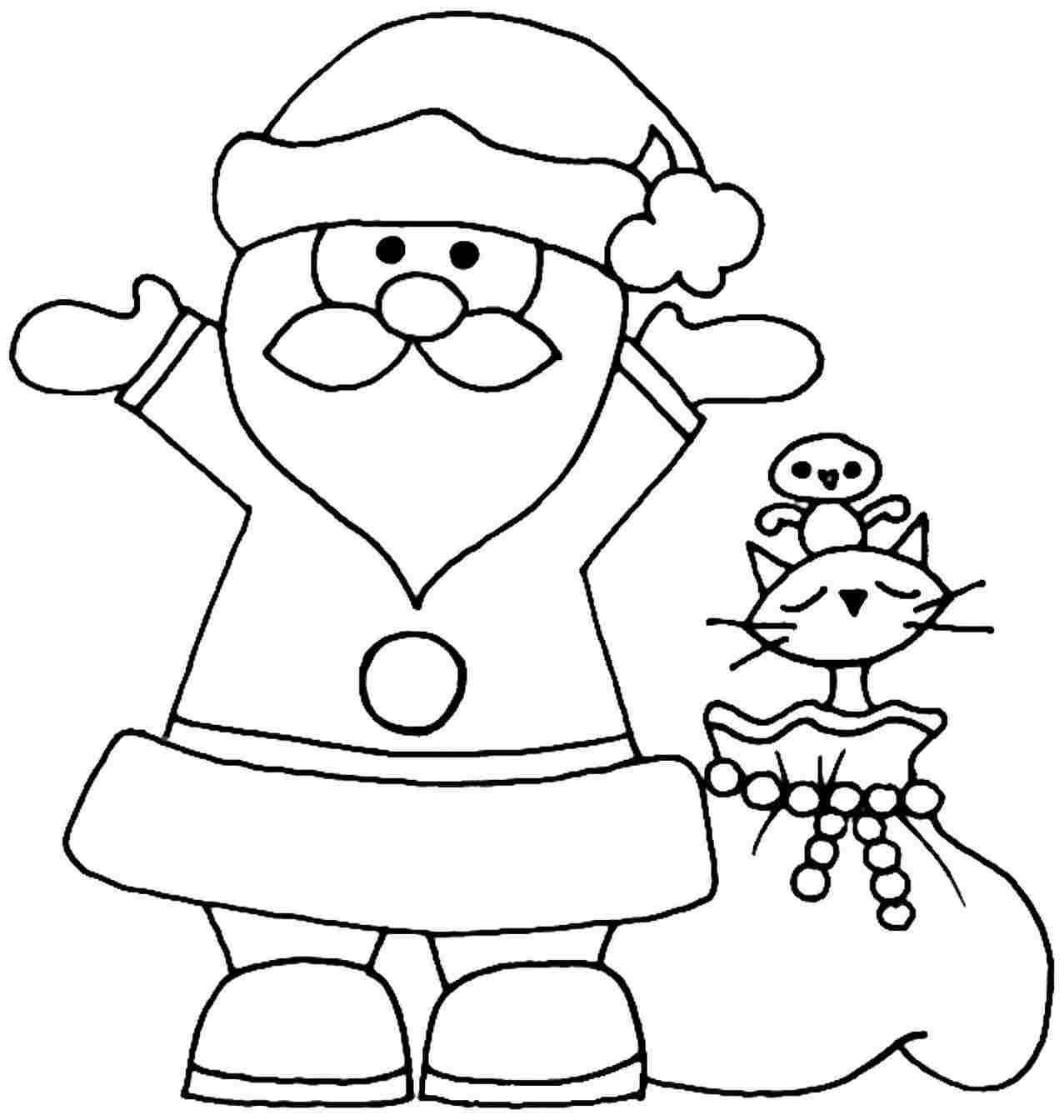 Santa Claus Coloring Pages Image Picture Photo Wallpaper 09