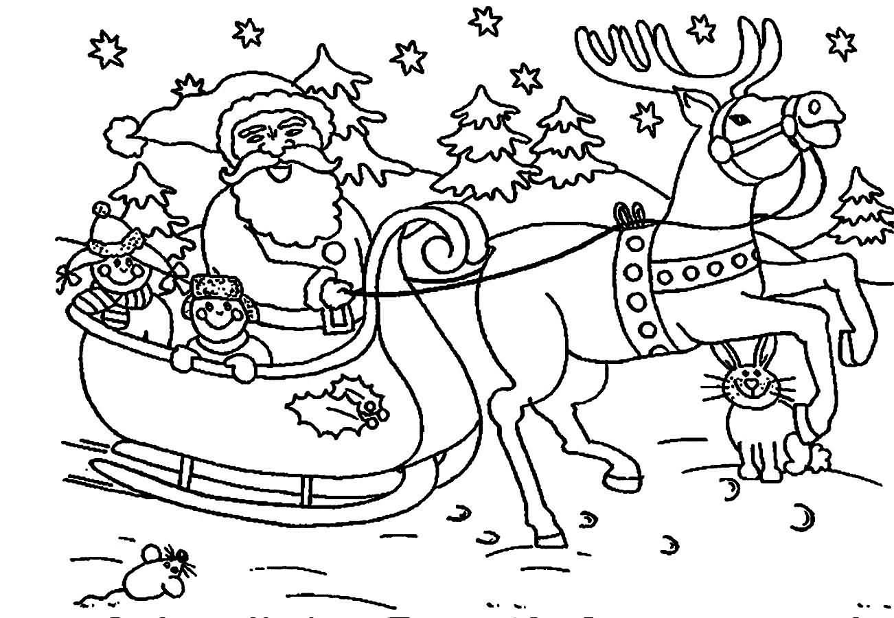 Santa Claus Coloring Pages Image Picture Photo Wallpaper 10