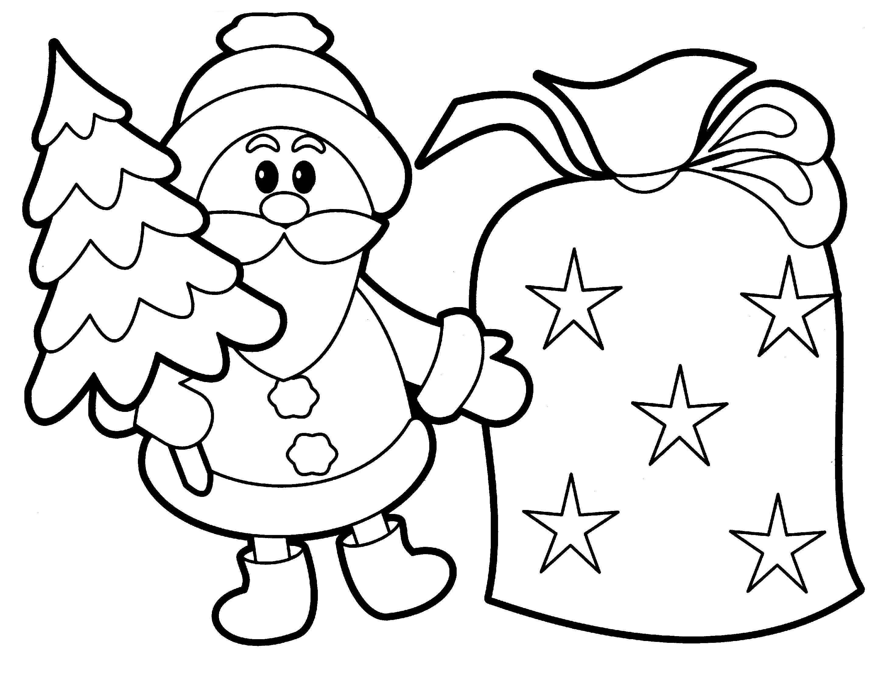 Santa Claus Coloring Pages Image Picture Photo Wallpaper 11