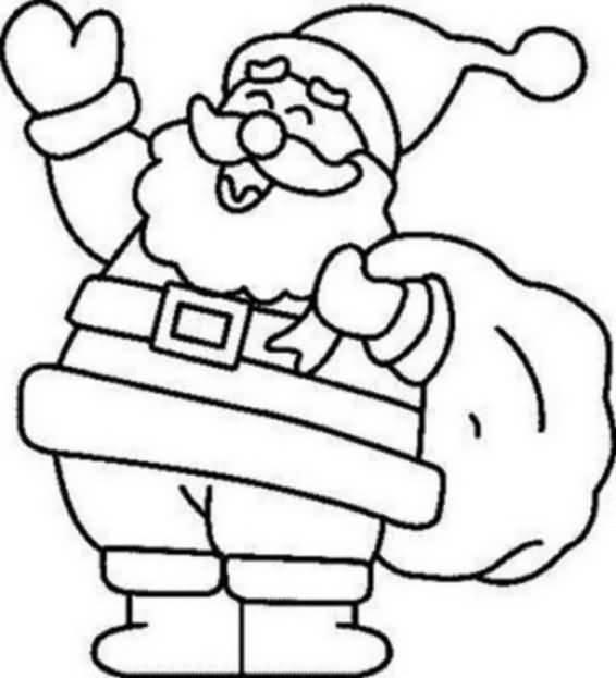 Santa Claus Coloring Pages Image Picture Photo Wallpaper 16