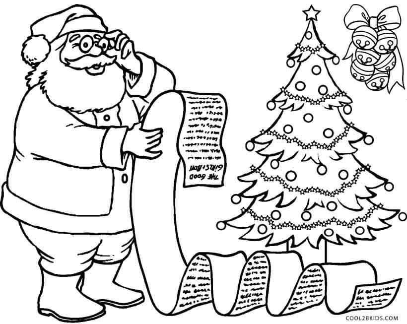 Santa Claus Coloring Pages Image Picture Photo Wallpaper 20