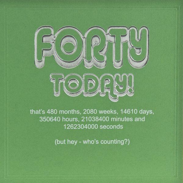 Very Funny 40th Birthday Sayings Meme