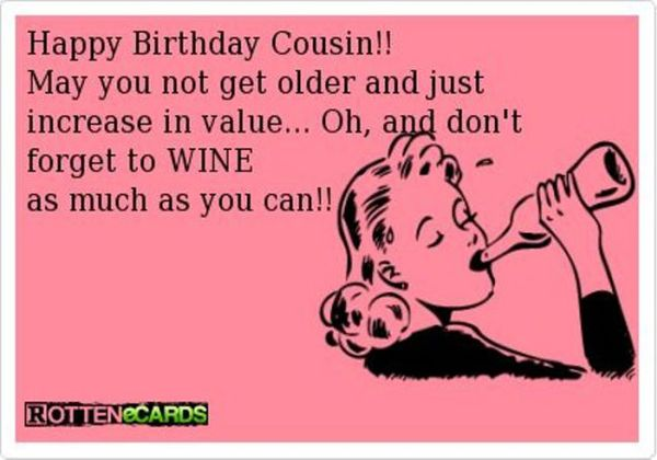 Very Funny Birthday Cousin Meme Image