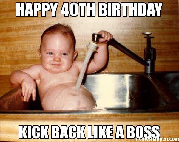 Very Funny Happy 40th Birthday Pictures Joke