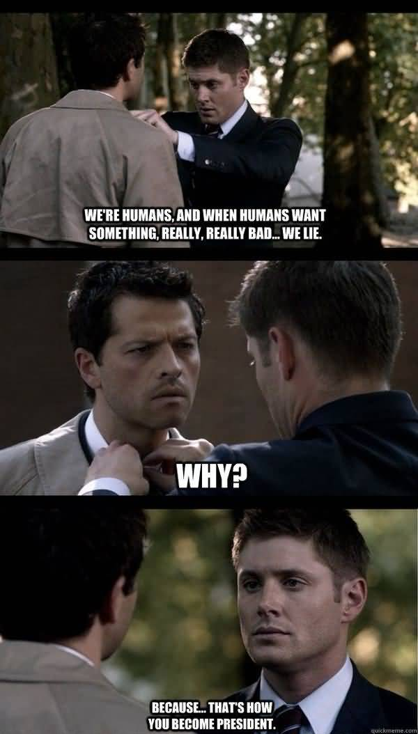 Very Funny Supernatural Memes Image