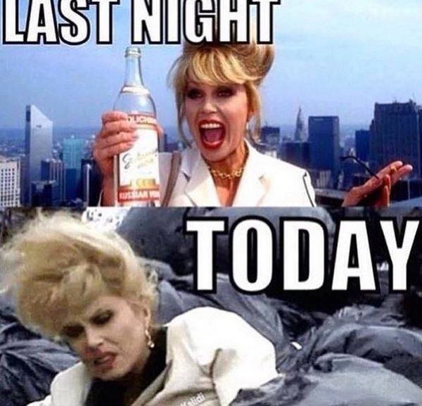 Very funny hangover memes image