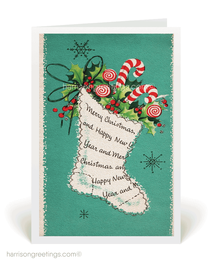 Vintage Christmas Cards Image Picture Photo Wallpaper 02
