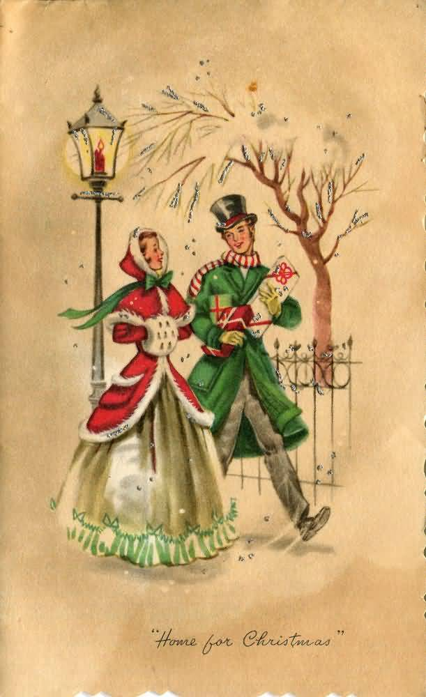 Vintage Christmas Cards Image Picture Photo Wallpaper 19