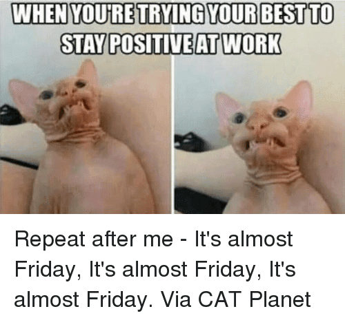 Almost Friday Meme Funny Image Photo Joke 12