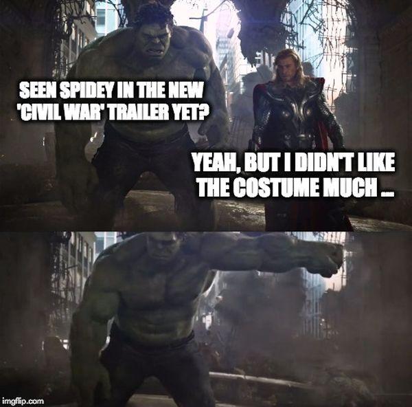 Amusing cool thor and hulk meme photo
