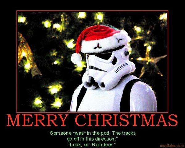 Amusing star wars stormtrooper christmas meme joke