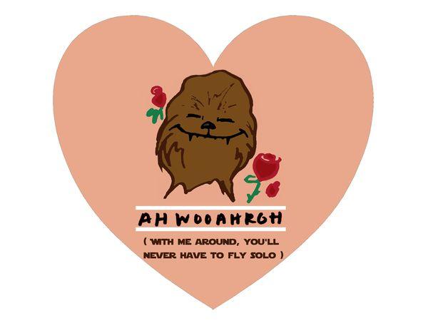 Amusing star wars valentine meme from wookiee image