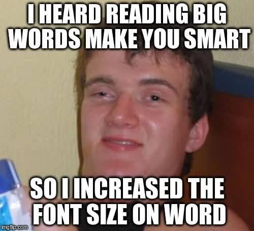 Big Words Meme Funny Image Photo Joke 06
