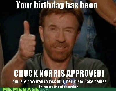 Chuck Norris Happy Birthday Meme Funny Image Photo Joke 03