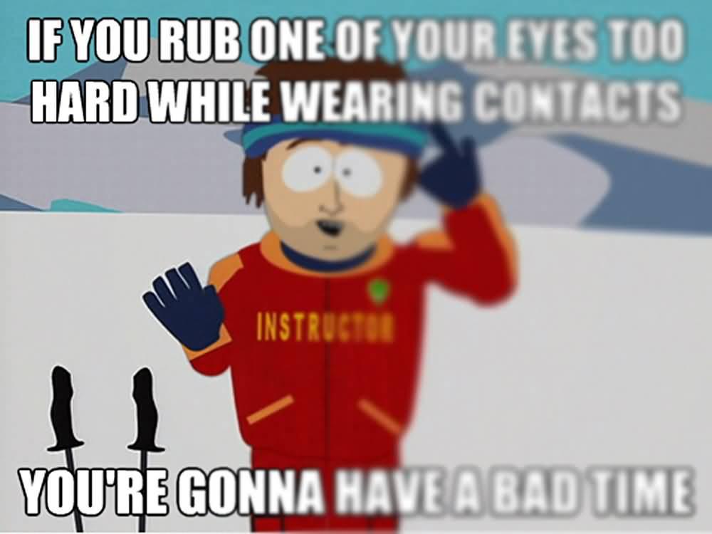 Contact Lenses Meme Funny Image Photo Joke 03