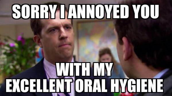 Dental Hygiene Meme Funny Image Photo Joke 05