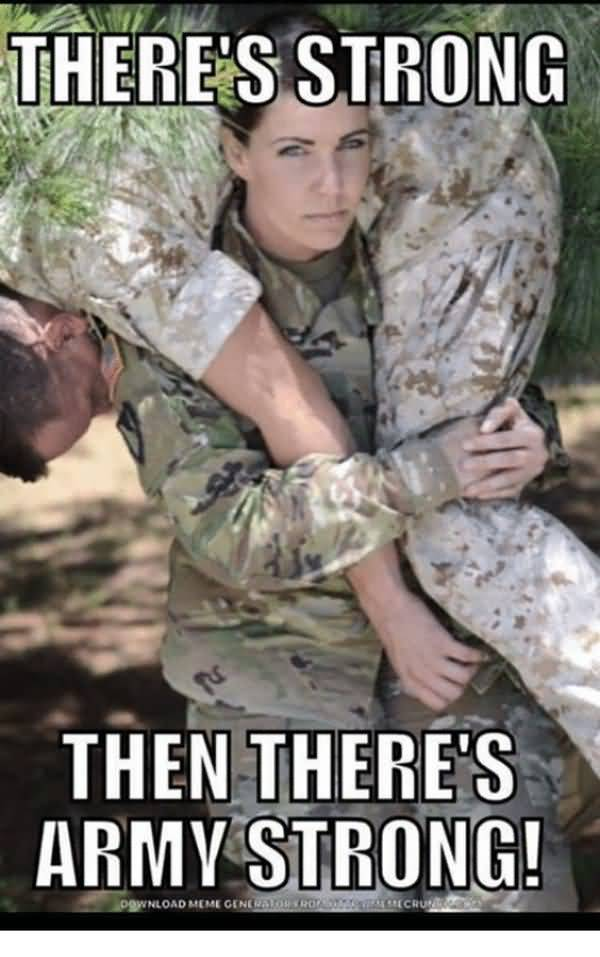 Funniest army strong meme picture