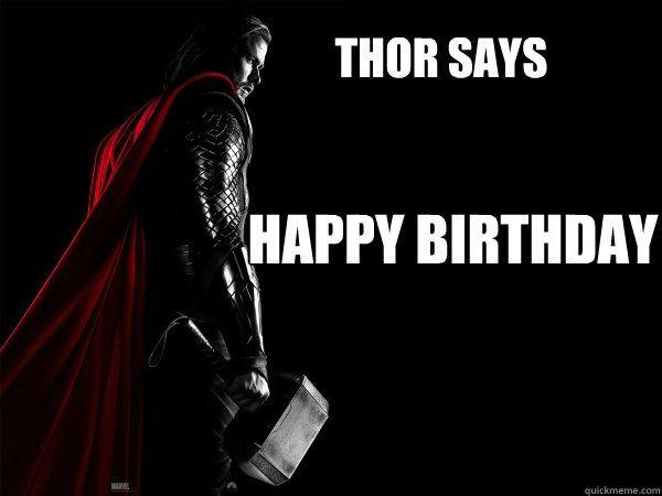Funniest best thor birthday meme image