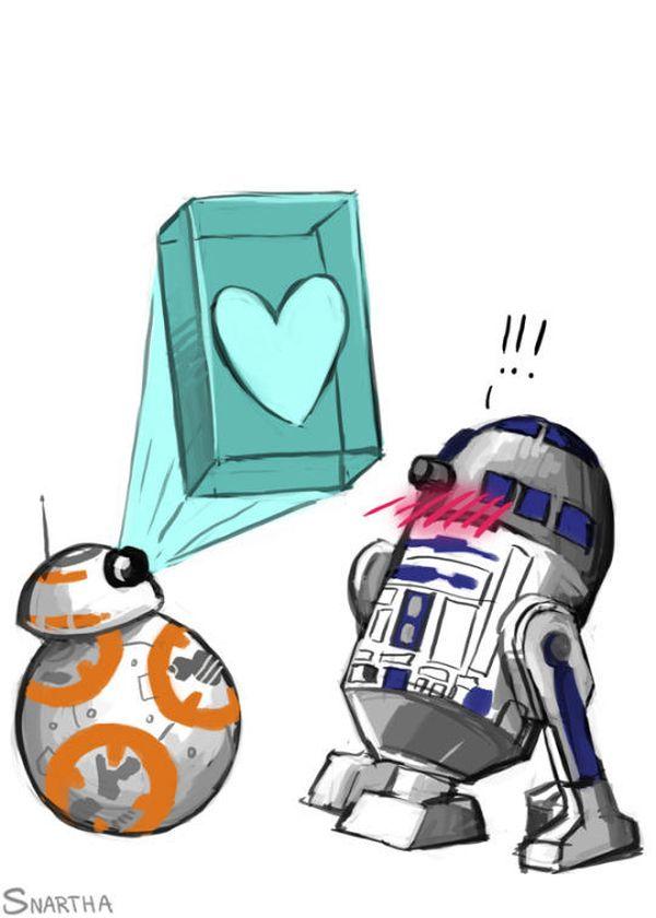Funniest star wars love droids meme image