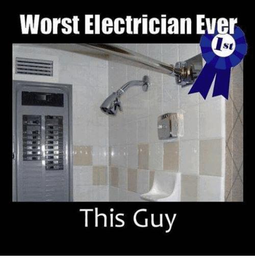 Funny Electrician Meme Funny Image Photo Joke 10